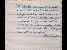 Cursive Hand Writing  How To Write Neat Cursive Handwriting  Mazic Writer  Youtube Rojas