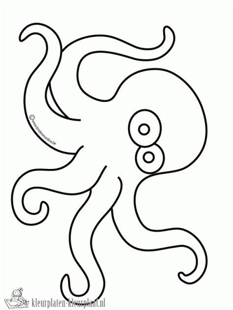 Kleurplaat Octopus by Kleurplaten Inktvis Kleurplaten Kleurplaat Nl