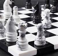 marble chess pieces Marble Chess Set - So That's Cool