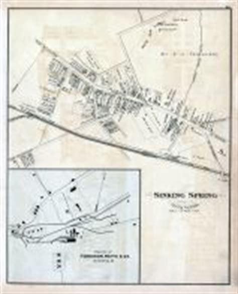 Sinking Borough Berks County Pa by Berks County 1876 Pennsylvania Historical Atlas
