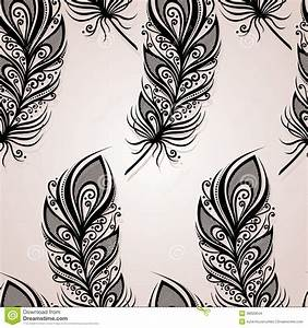 nahtloses muster mit federn vektor abbildung bild 38920644 With balkon teppich mit tapete mit federn