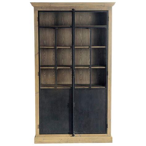 vitrine en bois recycl 233 l 130 cm voltaire maisons du monde
