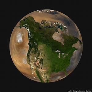 Here's What North America Would Look Like On Other Planets ...