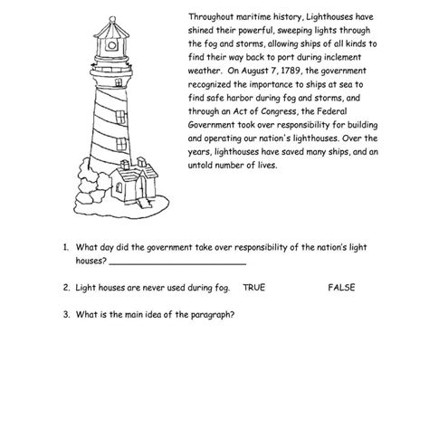 reading comprehension worksheets for grade 3 pdf and comprehension worksheets sles