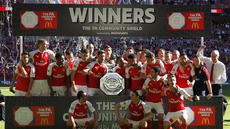 British Open Standings by Alex Oxlade Chamberlain Fires Arsenal To Community Shield