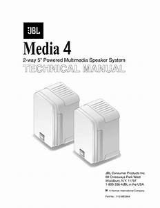 Jbl Media 4 Service Manual