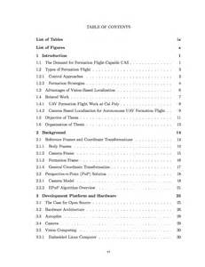 Sample Thesis Table of Contents