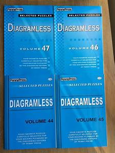 Lot Of 4 Diagramless Crossword Puzzles Penny Press Dell