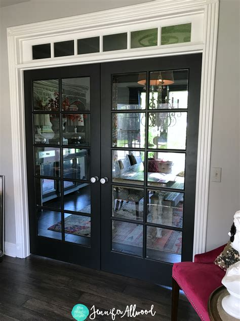 diy painted black french doors  jennifer allwood