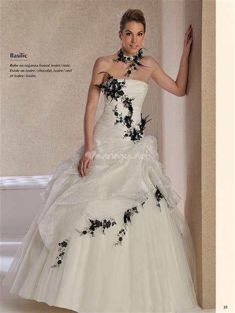 robe de mariage noir et blanche robe de mariee blanche et noir
