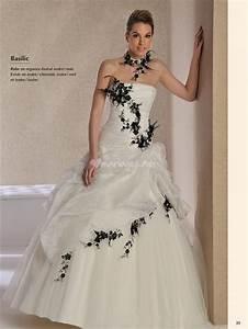 Robe De Mariée Noire : robe de mariee blanche et noir ~ Dallasstarsshop.com Idées de Décoration