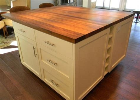 kitchen island butcher teak wood countertop in hshire by grothouse