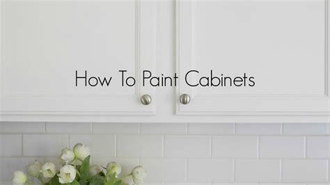 paint oak cabinets youtube