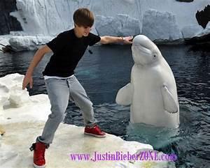 Justin Bieber Kissing A Whale At SeaWorld San Diego CA