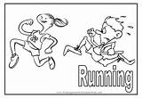 Running Coloring Pages Sports Printable Children Sport Colouring Run Race Print Track Getcoloringpages Flashcards sketch template