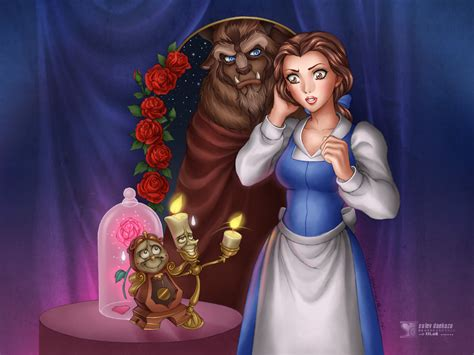 Beauty And The Beast Disney Cartoon Hd Wallpaper Image For