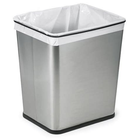 under cabinet trash bins wastebasket trash can garbage bin 7 gallon brushed