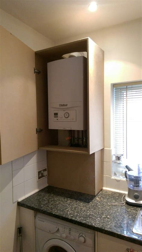 Lining Kitchen Cupboards by Boiler Cover Www Mancavecreations Co Uk Www Thediydoers