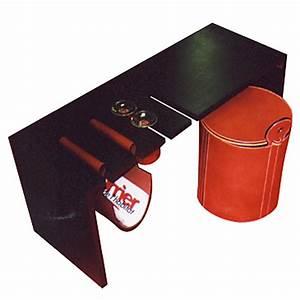 Table Basse Cuir : table basse composable en valchromat et cuir de buffle quart de poil ~ Teatrodelosmanantiales.com Idées de Décoration