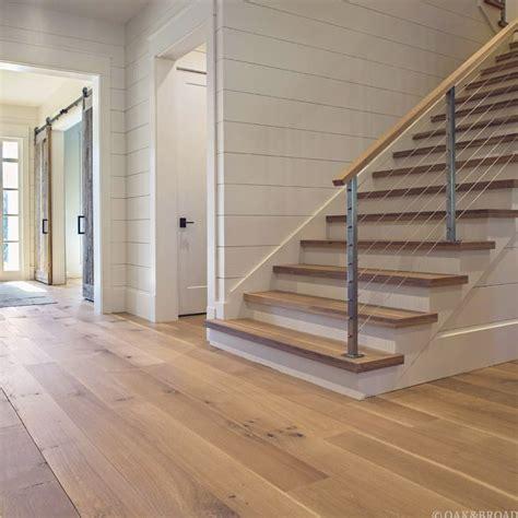Shiplap Wood Flooring by White Oak Flooring Shiplap Barn Doors Cable Railing