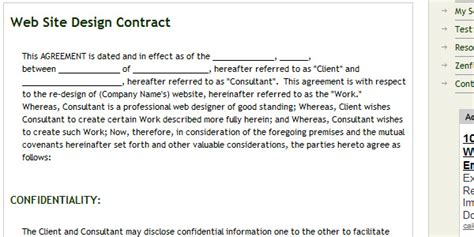 web design contract template free logo and web design contract templates designmodo