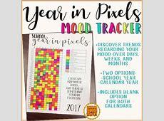 Year in Pixels Mood Tracker {freebie} by Schoolhouse Talk