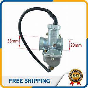 Motorcycle Carburetor Carb 20mm Manual Hand Choke For 50cc