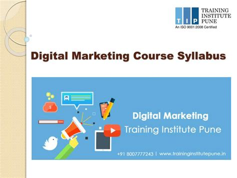 digital marketing course institute ppt digital marketing syllabus institute pune