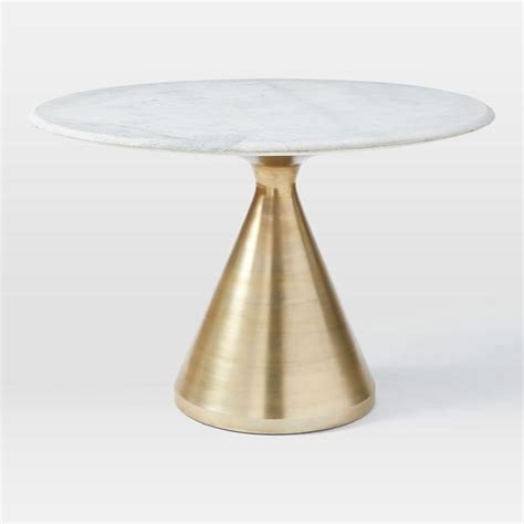 round marble table base white and gold iris dining table