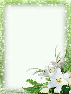 lilies frame suitable  sympathy card framesborders