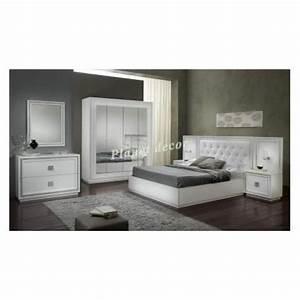chambre a coucher complete model kristel blanc achat With chambre a coucher complete pas cher