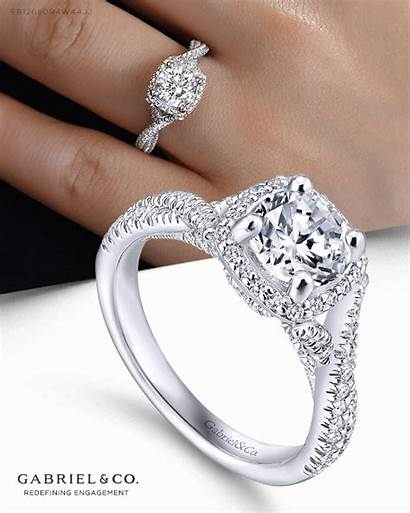 Ring Halo Diamond Round Engagement Gabrielny Rings