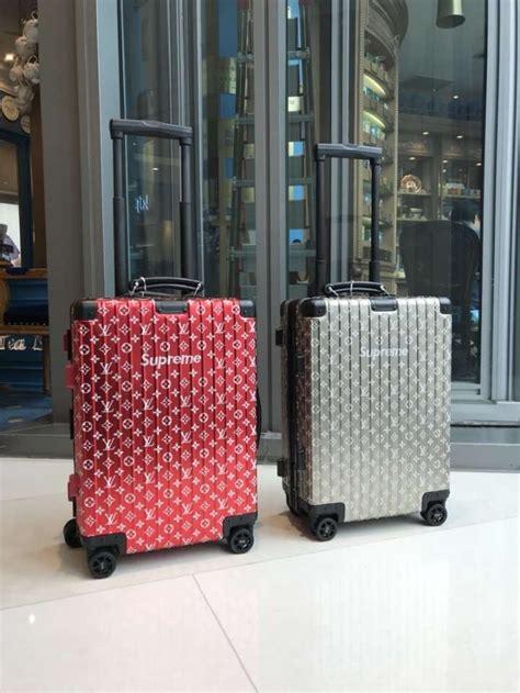 louis vuitton  supremer  rimowa   luggage red  louis vuitton louis vuitton