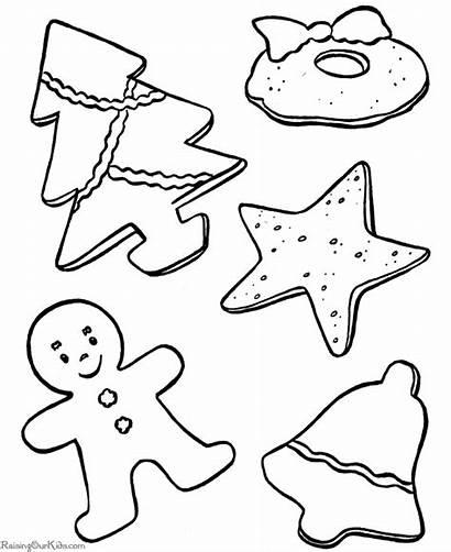 Coloring Christmas Cookies Pages Printable Printing