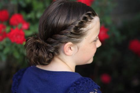 hairstyle video twistbacks  side ponytail cute