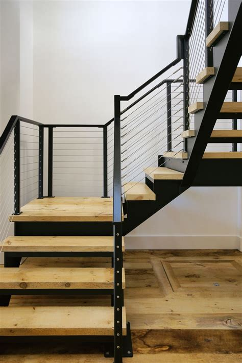 These steel stair stringers are made from laser cut steel