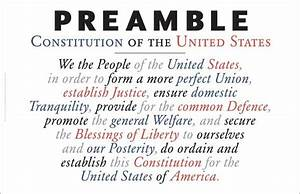 Preamble To The Us Constitution As Wall Art  A169  U2013 Gallery Delany