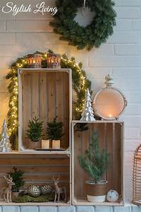 Weinkisten Dekorieren Draußen : weinkisten weihnachtlich dekorieren stylish living ~ Yasmunasinghe.com Haus und Dekorationen