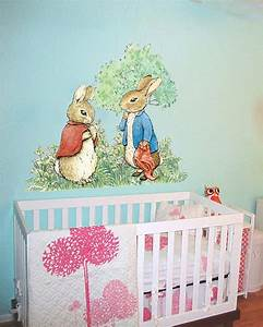 Wall decal beautfiul peter rabbit wall decals beatrix for Beautfiul peter rabbit wall decals