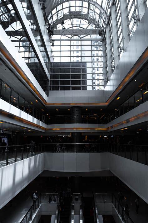 stock photo  escalator geometry lines