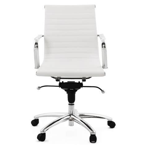 fauteuil de bureau cuir blanc fauteuil de bureau couris en simili cuir blanc