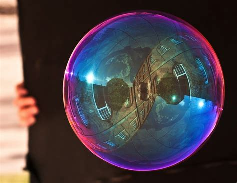 magical reflections  soap bubbles