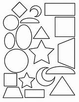 Coloring Shape Pages Toddlers Popular Rectangle sketch template