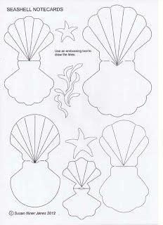 seashell notecards patterns templates tutorials