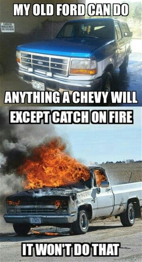 Ford Vs Chevy Meme - bronco ford vs chevy meme ford pinterest ford meme and ford trucks