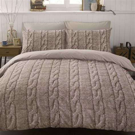 Neutral Bed Covers by Bedding Cable Knit Justlinen Fabric Sewing Bed