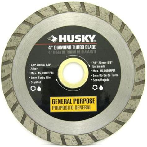 Husky Tile Saw Blade by Husky 4 In Turbo Continuous Circular Saw