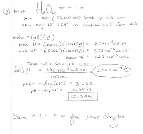 chemistry ph and poh calculations worksheet worksheets for