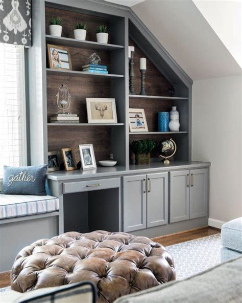 Bookcase Ls by Wood Wall Interior Ideas For Grey Painted Built In