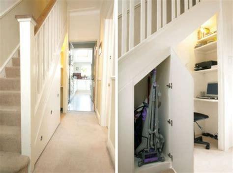 ausziehbare treppe schöne praktische lagerraum ideen unter der treppe